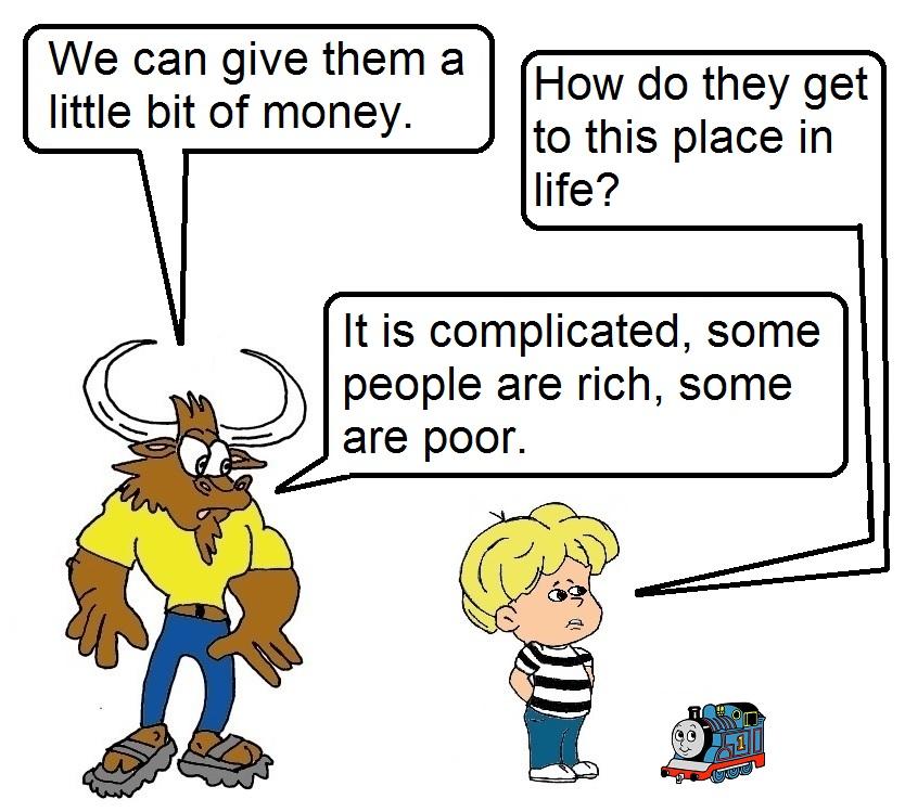 Torito en la caridad
