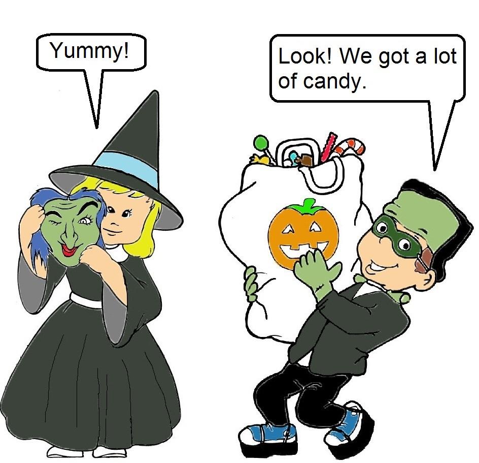 Torito en Halloween
