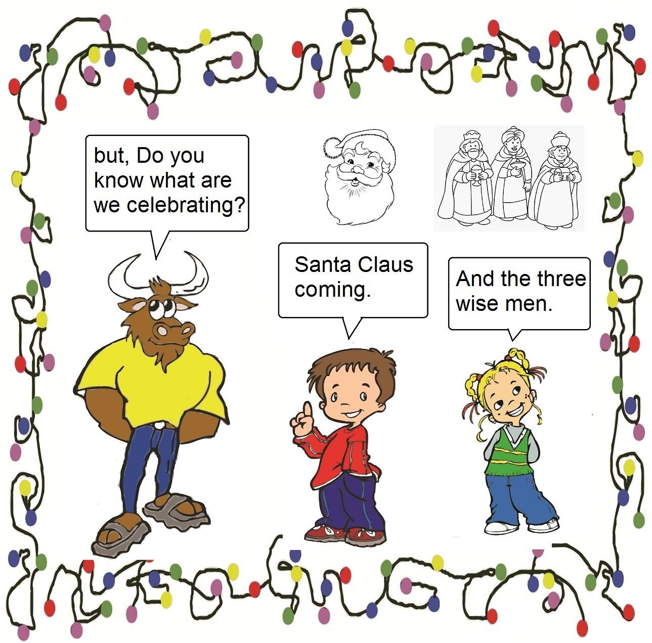 Torito en la Navidad