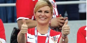 La presidenta futbolera de Croacia