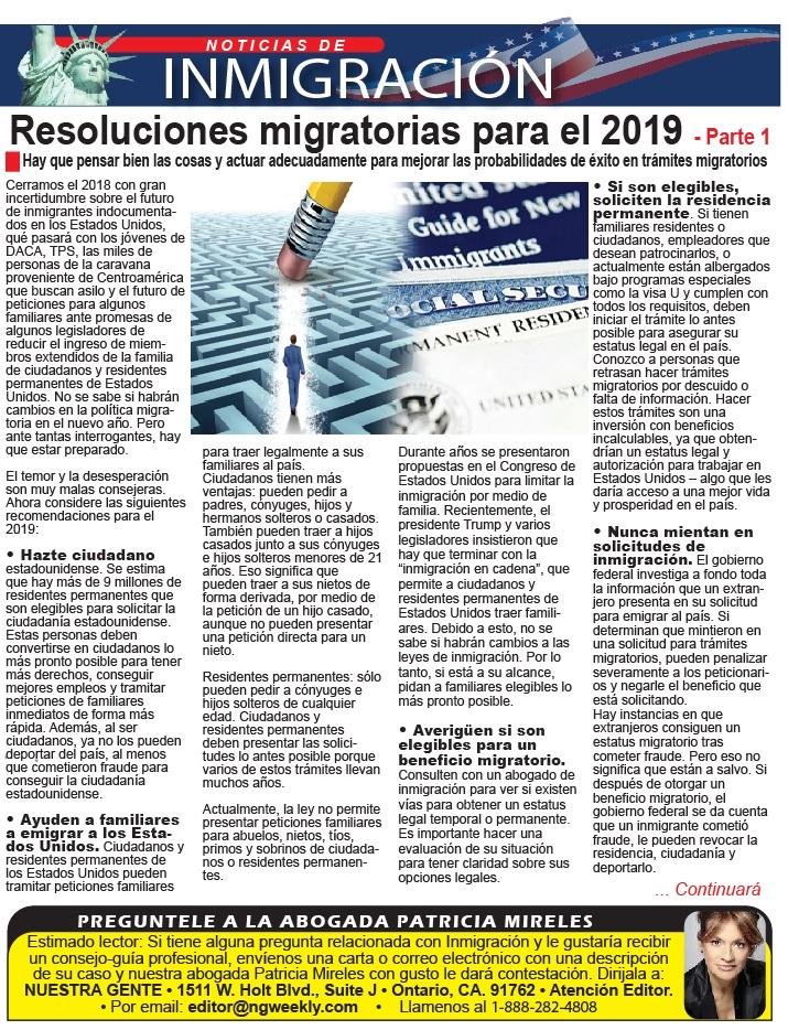 resoluciones migratorias