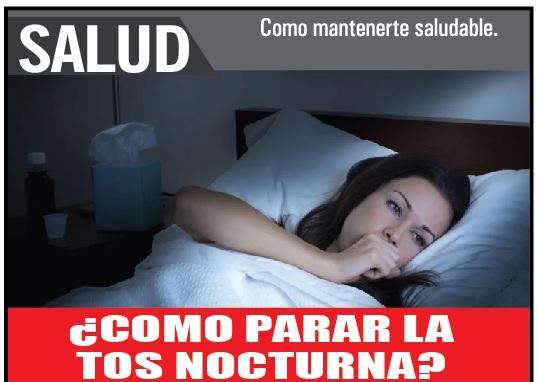 ¿Cómo parar la tos nocturna?