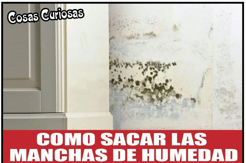 COMO SACAR LAS  MANCHAS DE HUMEDAD