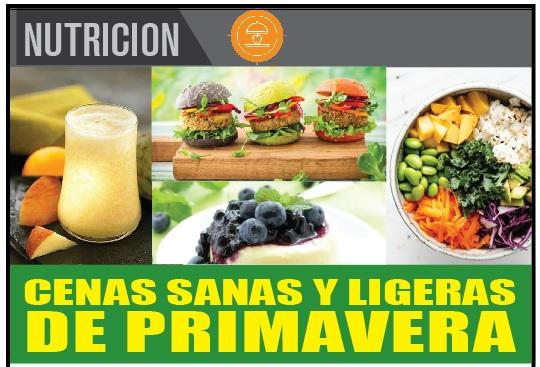 CENAS SANAS Y LIGERAS DE PRIMAVERA