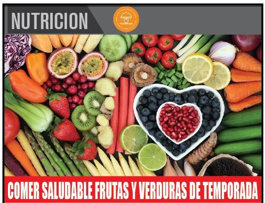 COMER SALUDABLE FRUTAS Y VERDURAS DE TEMPORADA